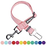 Cheap Blueberry Pet 12 Colors Classic Dog Seat Belt Tether for Dogs Cats, Baby Pink, Durable Safety Car Vehicle Seatbelts Leads Use with Harness