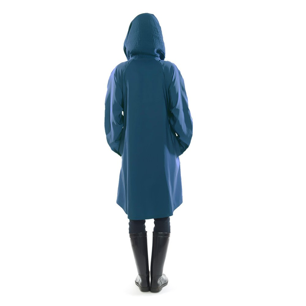 Mycra Pac Short Donatella Fashion Travel Raincoat (Extra Small, Sapphire) by Mycra Pac (Image #6)