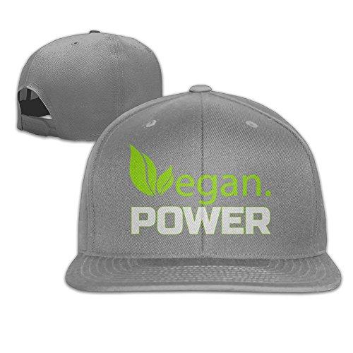 (Yishuo Men Vegan Power Casual Style Baseball Ash Cap Adjustable Snapback)