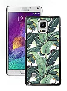 Milly Banana Leaf Black Samsung Galaxy Note 4 Screen Cover Case Fantasy and Luxurious Skin