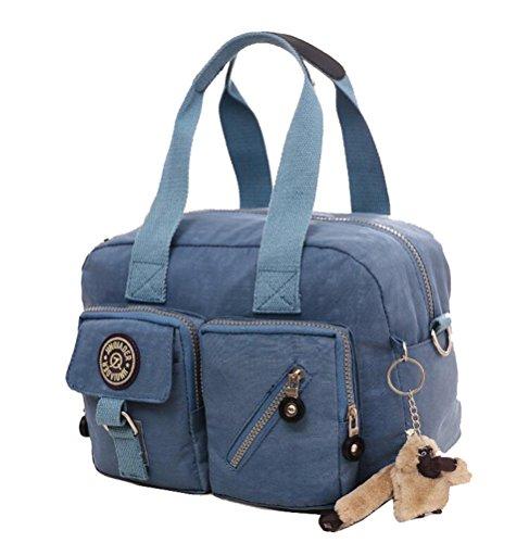 Rose Handbag Messenger Nylon Yan Red Smoke Grey Women's Shoulder Bag Package Show Bag Leisure RxvxBC