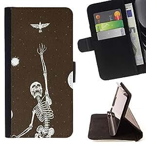 Momo Phone Case / Flip Funda de Cuero Case Cover - Esqueleto Bird Dreams Vignette metal - Samsung Galaxy S3 III I9300