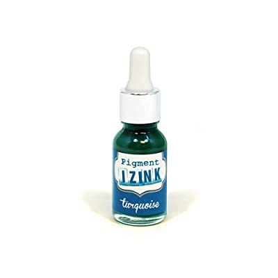 Aladine - Izink Pigment - Covering Ink All Support - DIY and Creative Leisure - Watercolorable - Water washable - Made in France - Pipette bottle 15 ml - Turquoise Color: Arts, Crafts & Sewing