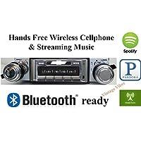 Bluetooth Enabled 1967-1968 Chevy Impala USA-630 II High Power 300 watt AM FM Car Stereo/Radio