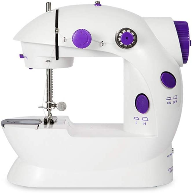 TIKTOK Mini Sewing Machine with Extension Table Portable Manual Brake for Family Children Beginners Travel use