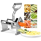 Goplus French Fry Cutter Fruit Vegetable Potato Slicer Commercial Grade W/ 4 Different Size Stainless Steel Blades 1/4