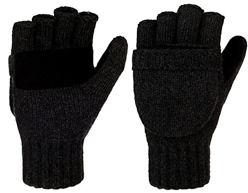 Metog Suede Thermal Insulation Mittens Black Regular