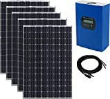 500W 12V DIY Solar Power RV Boat Kit - 5 x 100W Mono Solar Panels + 40A MPPT Controller + 16 Feet...