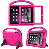 TIRIN Kids Case for iPad 4 3 2 with Built in Screen Protector - Light Weight Shock Proof Convertible Handle Stand Kids Friendly Case for Apple iPad 4th/3rd/2nd Generation - Rose