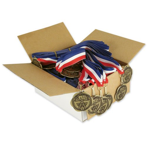 Set of 100 Award Medals with Neck Ribbons - Math