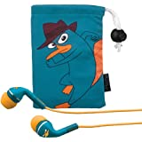 "Phineas and Ferb ""Agent P"" Noise Isolating earphones with Pouch (DF-M153)"