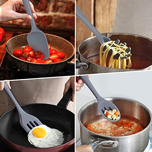 Kitchen Utensils Set,15pcs Dishwasher Safe Silicone Cooking Utensils Set ,Non-stick Kitchen Utensils,446°F Heat Resistant Cooking Utensils(BPA Free)