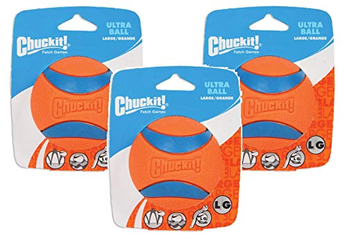 Chuckit 3 Pack of Ultra Balls, Large