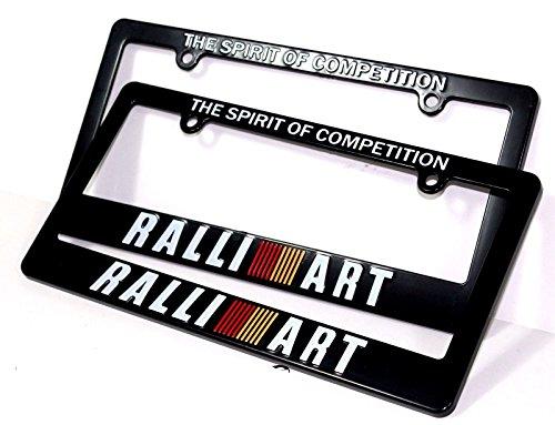 (X2 JDM RALLIART Racing License Plate Frame For MITSUBISHI LANCER GALANT ECLIPSE )