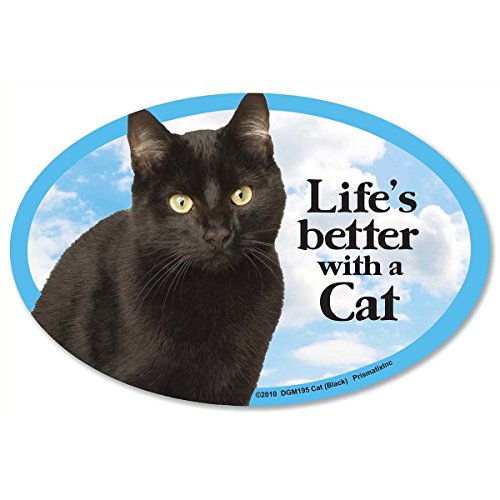 Prismatix Decal Cat and Dog Magnets, Cat, Black