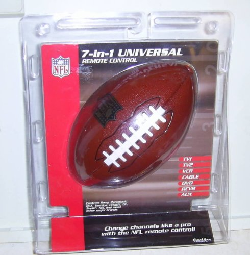 (Raiders Football NFL 7 In 1 Universal Tv Remote Control)