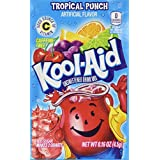 Kool-Aid Tropical Punch Unsweetened Soft Drink Mix, 0.16-Ounce Envelopes (Pack of 48)