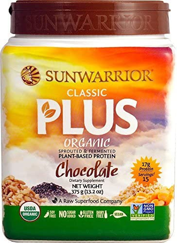 Sunwarrior, Classic Plus Chocolate, 375 Gram