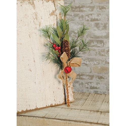 Heart of America Brush Pine with Red Bells Pick 16''