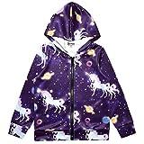 Unicorn Hoodie for Girls Sweatshirts Zip Up Jackets Star Unicorn Clothes
