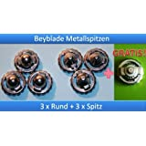Beyblade metal Pointes 3+3 and 1 for free (3x environ and 3x pointu)