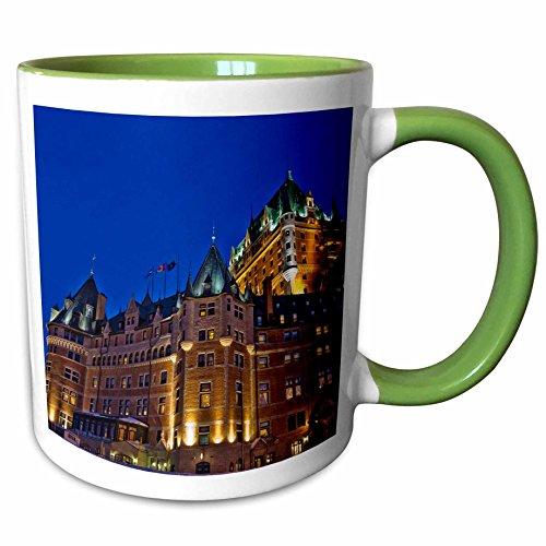 (3dRose Danita Delimont - Hotels - Chateau Frontenac Hotel, Quebec City, Canada - CN10 KSU0046 - Keren Su - 15oz Two-Tone Green Mug (mug_135400_12))
