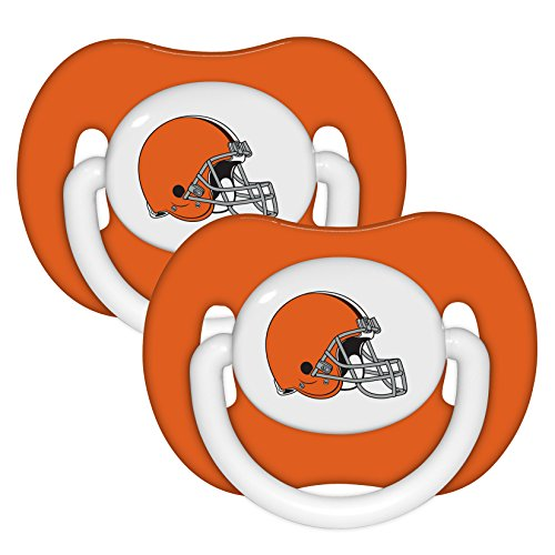 NFL Football 2014 Baby Infant Pacifier 2-Pack - Pick Team (Cleveland Browns - Solid)