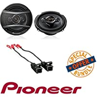 Pioneer TS-A1686R A-Series 6.5 350-Watt 4-Way Speakers W/ Metra 72-4568 Speaker Harness for Selected General Motor Vehicles