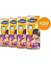 Drypers Drypantz Diapers, L, Carton, 4 packs x 36 Count