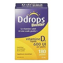 Ddrops Booster 600IU Liquid Vitamin D3 Drop, 5ml