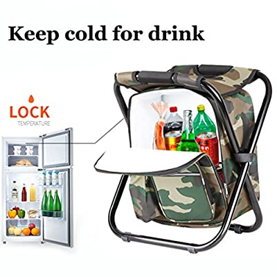 Taohua Garden Folding Camping Chair & Backpack with Cooler Insulated Picnic Bag Camping Stool Oxford Fabric Hiking Fishing Travel Beach BBQ Outdoor activies