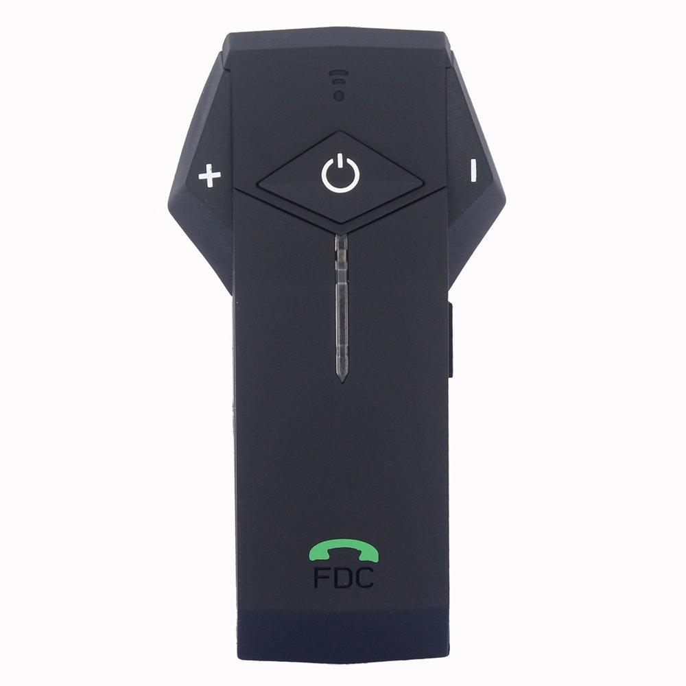 Motorcycle Communication Systems,FreedConn COLO Helmet Bluetooth Headset Intercom for Motorbike Skiing (NFC/Handsfree/Range-1000M/2-3Riders Pairing/Black&Red&Silver Shell)