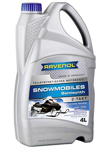 RAVENOL J1V1302-004 2-Stroke Snowmobile Oil - Semi Synthetic JASO FC API TC Spec Oil (4 ()