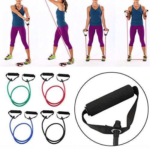 Bureze Latex de caoutchouc Tension Corde Coffre Developer Expander Printemps pour exercices de fitness
