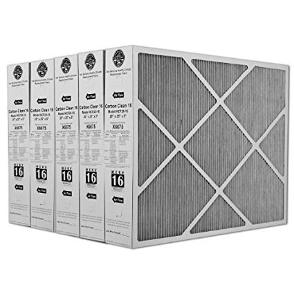 "Lennox X6675 Carbon Clean 16 MERV 16 Filter 20""x25""x5"" (5 Pack)"