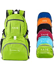 S & P Outdoor 35L Sport water resistant Lightweight Packable backpack Durable folding Travel Hiking Trekking Camping...