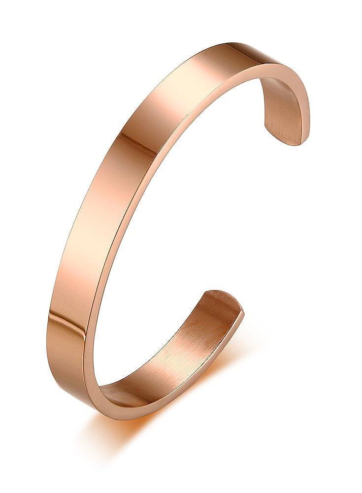 VNOX Yoga Jewelry 8MM Om Symbol Stainless Steel Cuff Bangle Bracelet for Men Women,4 Color