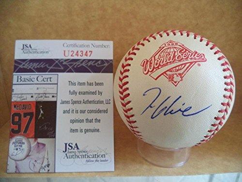 (Autographed Tom Glavine Ball - 1995 World Series U24347 - JSA Certified - Autographed Baseballs)