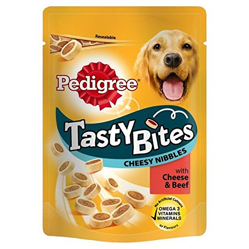 Pedigree Tasty Bites Treats Cheese & Beef 140g (PACK OF 6)