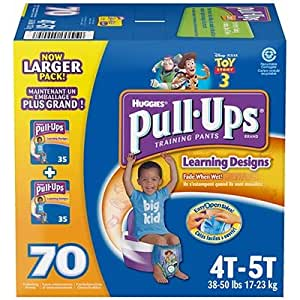 Huggies Pull-Ups Boy Size: 4-5T; Quantity: 70 Day / Night Training Pants
