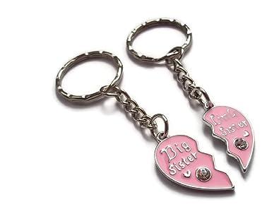 Halo accesorios roto corazón rosa esmalte, y grandes Little ...