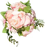 #4: Duovlo Artificial Peony Silk Flowers Fake Flowers Vintage Wedding Home Decoration,Pack of 1