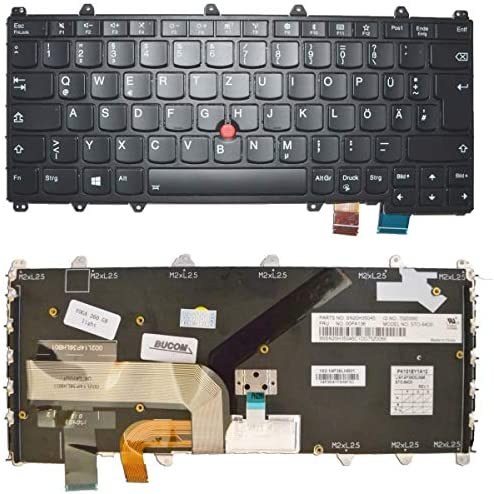 Bucom Keyboard for IBM Lenovo ThinkPad Yoga 260 460 ST084 DE QWERTZ Keyboard with Lighting