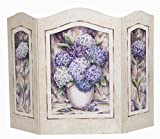 Stupell Home Décor Shabby Chic Hydrangea Bouquet 3-Panel Decorative Fireplace Screen, 43 x 0.5 x 31, Proudly Made in USA