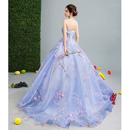 Robes Dentelle Sweetheart Sweep Princesse Cordon Parti 10 Train Fleur Goddess De Mariée Soirée Longue La Sun Robe Sleeveless 12 Prom qtTI4A
