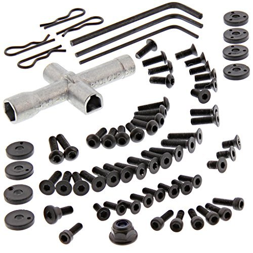 (HPI 1/10 RS4 Sport 3 4WD Drift 70 PIECE SCREW & TOOL KIT Body Clips Shock Piston by HPI Racing)