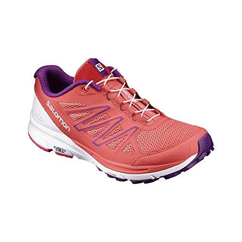 Salomon Sense Marin W, Zapatillas de Trail Running para Mujer Naranja (Living Coral/White/Grape Juice)