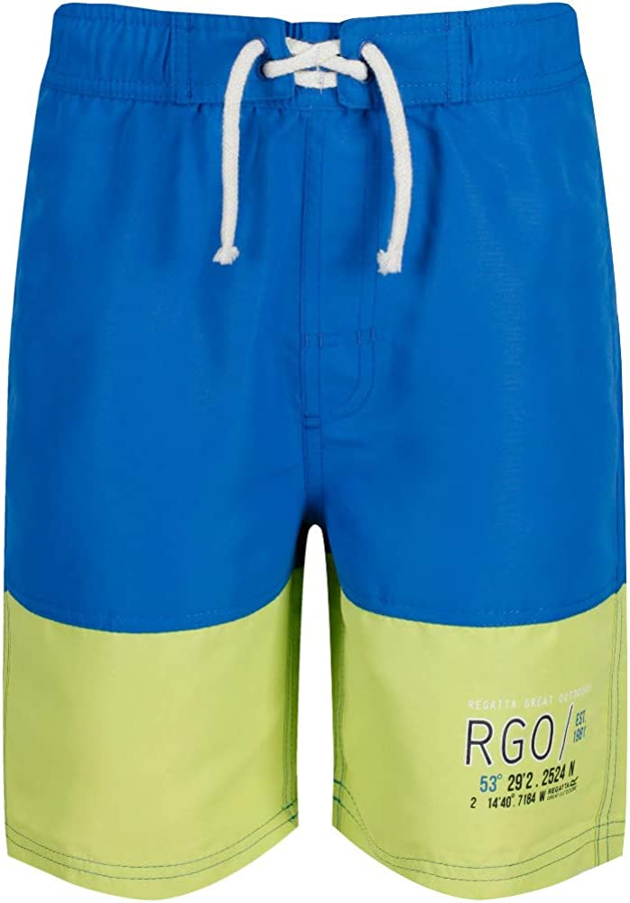 Regatta Boys Shaul II Polyester Quick Dry Swim Shorts