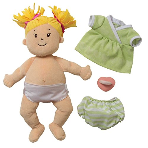 51rGfqsr bL - Manhattan Toy Baby Stella Blonde Soft First Baby Doll for Ages 1 Year and Up, 15""