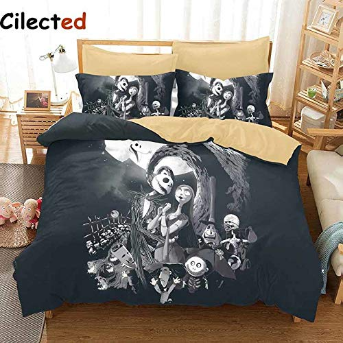 Christmas Bedding Set Sanding Bedding Duvet Cover Set 3pc Include Bed Spread Pillowcase for Adult ()